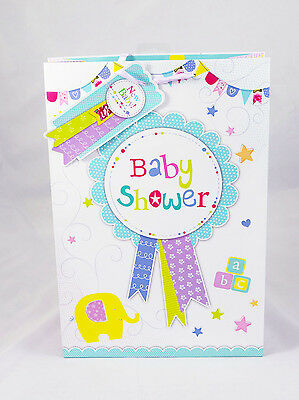Baby Shower Large Gift Bag Unisex Boy Girl Cute Quality Mum To Be Gift Present L
