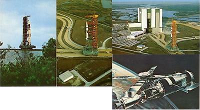 Skylab and Launch Vehicle Rocket Lot of 4 1970s Postcards