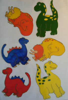 Dinosaurs Animal Nursery Window Paint Picture Decoration Cling