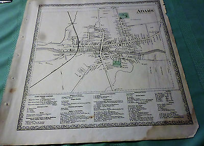 1864 Map Village Of Adams Ny Jefferson Co Residents Listed