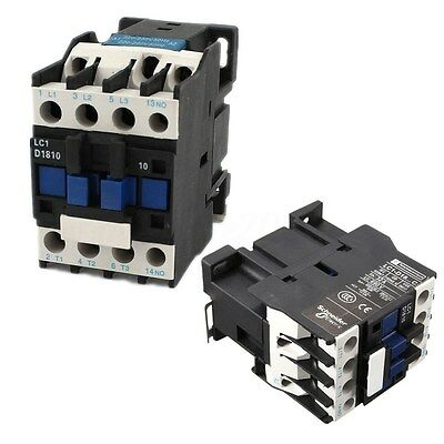Power AC Contactor 1NO AC 220V 50/60Hz Coil Motor Starter Relay 32A 3-Phase-Pole
