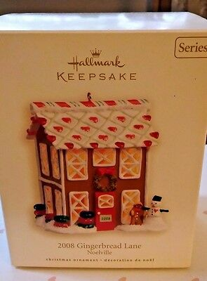 New 2008 Hallmark Keepsake 2008 Series Gingerbread Lane Christmas Ornament