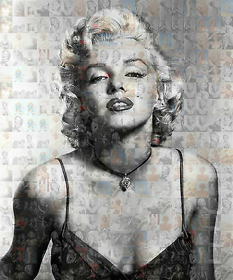 MARILYN MONROE photo mosaic cm. 30x41 poster with hundreds of sexy pics