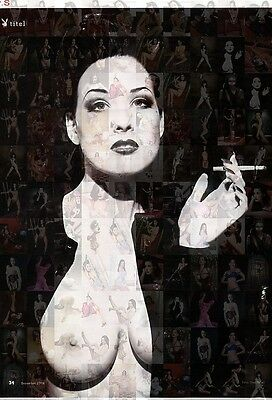 DITA VON TEESE tit photo mosaic cm. 30x41 poster with hundreds of sexy pics