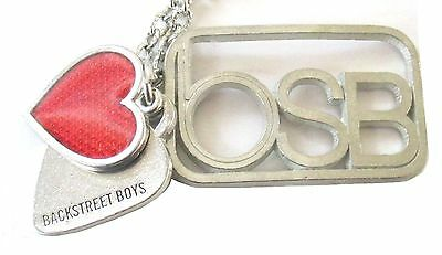 The Backstreet Boys Two Hearts Bsb Pendant Metal Necklace New Official Licensed