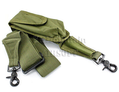 Two-point Rifle Sling with Pouch / Green (KHM Airsoft)