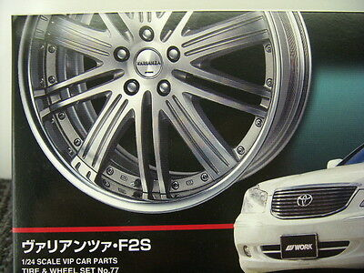 AOSHIMA 43059 VARIANZA F2S 20 INCH TIRE & WHEEL SET 1/24 Scale