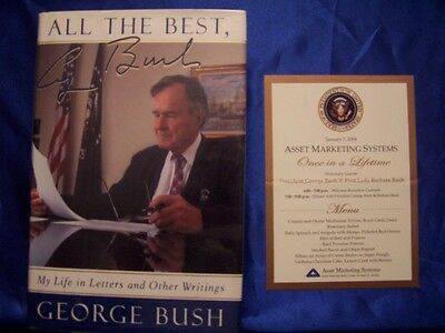 President George H W Bush signed All The Best autograph WWII