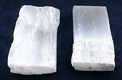 334.7 Gram Two White Selenite Cab Cabochon Slab Gem Stone Gemstone Rough SS5