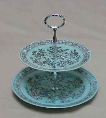Adams (Calyx Ware) Singapore Bird TWO TIER CAKE STAND