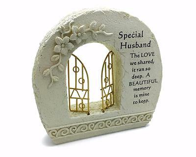 Special Husband Gates To Heaven Graveside Ornament Memorial Plaque DF16140G