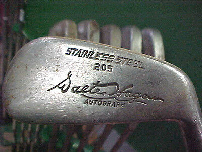 Old Vintage Walter Hagen Autograph 205 Steel Blade Golf Clubs Iron Set 3 thru 8