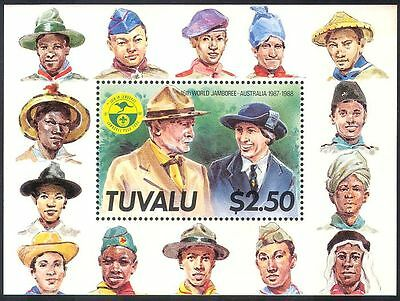 Tuvalu 1988 Scouts/Baden Powell/Scouting/Jamboree/Uniforms/People 1v m/s (s2278)