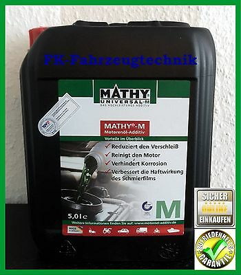 Mathy M Öl-Additiv 5 Liter Motorsport,Racing,Rally, Literpreis 38,59 € TOP!!