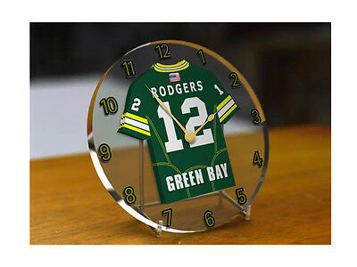 Green Bay Packers - PERSONALISED Acrylic Clock (NFL)