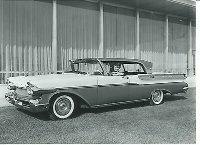 Ford Mercury Turnpike Cruiser 1957 Old Black White Photograph Mint Condition