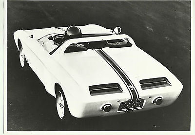 Ford Mustang I Roadster Concept Car 1962 Italian Press Photograph Rear View
