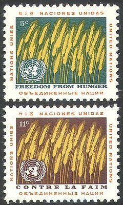UN (NY) 1963 Food Programme/Freedom From Hunger/FAO/FFH/Wheat/Crops 2v (n41733)