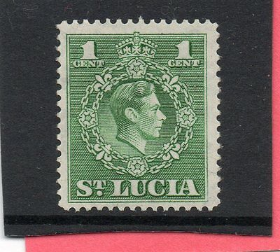 St.LUCIA GV1 1949-50 new currency 1c  sg 146a NHM