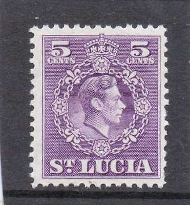 St.LUCIA GV1 1949-50 new currency 5c  sg 150 L.H.MINT