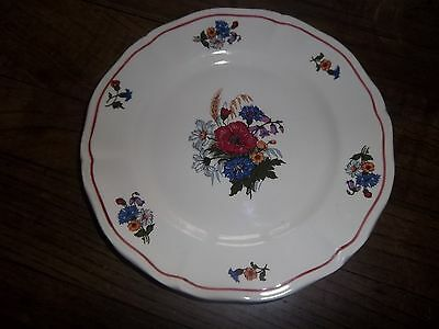 6 assiettes  a dessert  ,21 cm,faience  sarreguemines,modele agreste