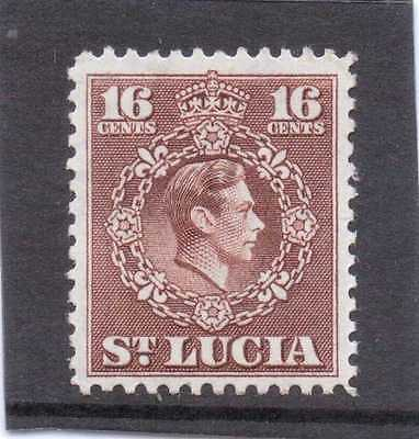 St.LUCIA GV1 1949-50 new currency 16c  sg 154 H.MINT