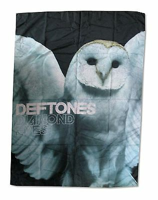 Deftones White Owl Nylon Wall Flag Fabric Poster New Official Rock Music