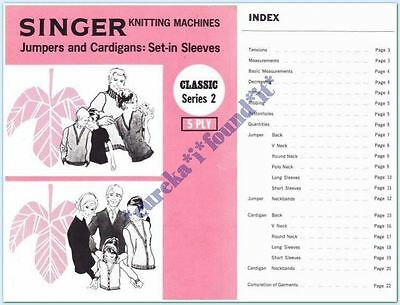 SINGER KNITTING MACHINE CLASSICS #02 JUMPERS and CARDIGANS Set-in sleeve : 5 ply