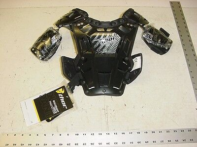 THOR Chest Roost Protector Black Child MX Motocross ATV Quadrant Race