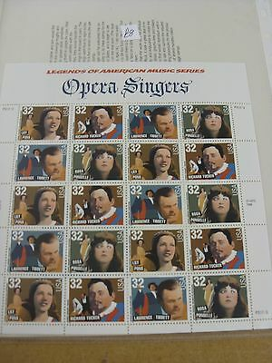 Usa Mint Stamp Sheets  Opera Singers 1996 Very Nice