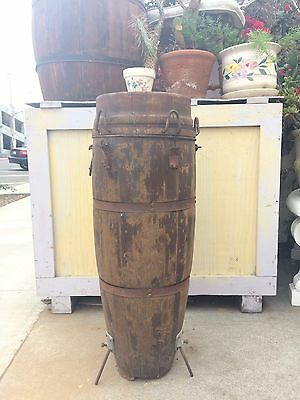 Antique Wooden KONGO DRUM Distressed MAN CAVE Music Room Imagination Drummer Art