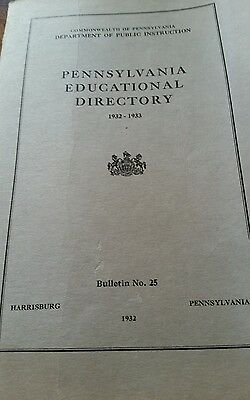 Commonwealth of Pa. Educational Directory Bullentin No. 25
