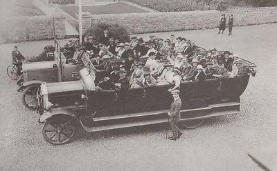 Charabanc Classic Car Group Outing From Caernarfon Welsh Wales Postcard