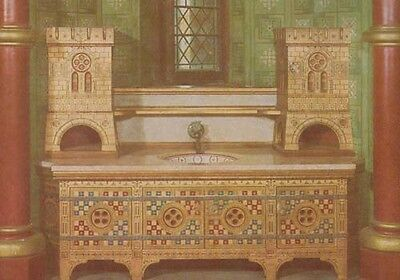 Ladys Bedroom Washstand Castell Coch Tongwynlais Welsh Postcard