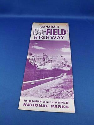 Information Booklet Advertising Brochure Canadas Ice Field Highway Banff Jasper