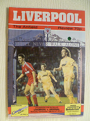 Liverpool v Arsenal League Cup 1988-1989