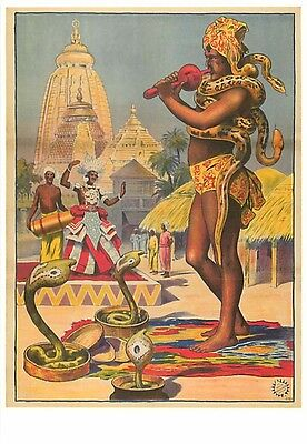 Snake Charmer in India Circus Modern Postcard