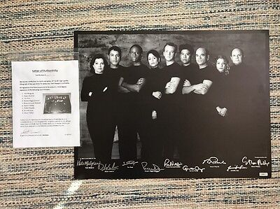 Star Trek Voyager Authentic Signed Black And White Lithograph Auto Cast COA rare