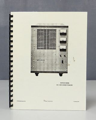 Elgar AC Line Conditioners Series 5000B Instruction Manual