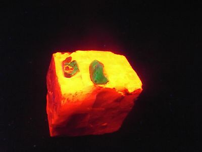 Nice! Willemite Crystal In Calcite Specimen Sterling Hill Mine  New Jersey