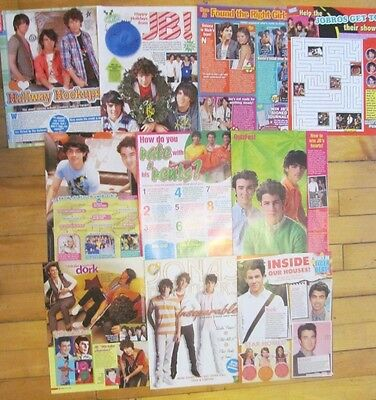 The Jonas Brothers, Lot of TEN Full Page Clippings