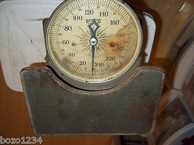 Antique Vintage Detecto Junior Scale Physician Doctor Medical Office Step On **