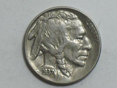 1937-S Buffalo Nickel - Indian Head Bison Us Coin