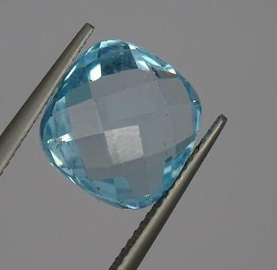 ***Beautiful Natural 8.5ct Blue Topaz Faceted Mixed Cushion Cut Gemstone***