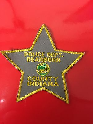 Dearborn County Indiana  Police  Shoulder Patch  Used