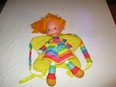 "Vintage Rainbow Brite 16"" Large Doll and back Pack / Star Doll Carrier"