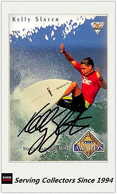 1994 Futera HOT SURF Trading Card Personal signature card #86 Kelly Slater