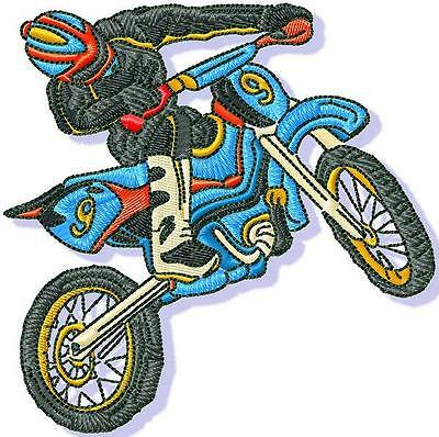 Dirt Bikes 10 Machine Embroidery Designs Cd 2 Sizes