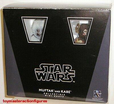 GENTLE GIANT 2011 STAR WARS (ANH) MUFTAK & KABE MINI BUST 2 PACK SET In Stock
