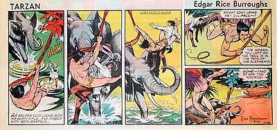 Tarzan by Burroughs & Russ Manning - color Sunday comic page - March 30, 1969